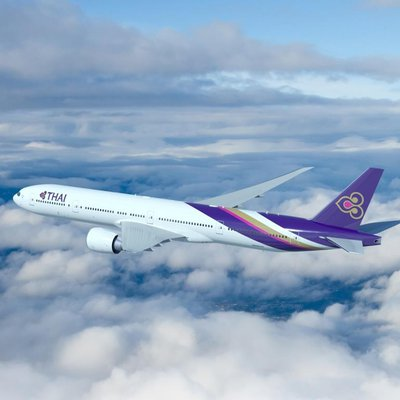 Thai-Airways: Boeing 777 in der Luft