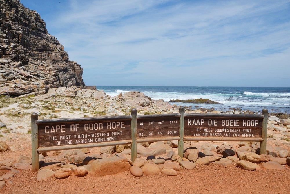 Schilder am Kap der Guten Hoffnung