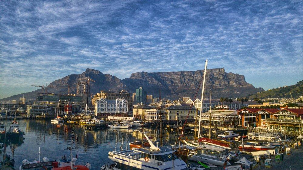 Blick auf Kapstadt von der Wasserseite