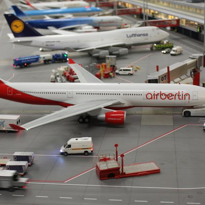 Air Berlin-Maschine am Gate