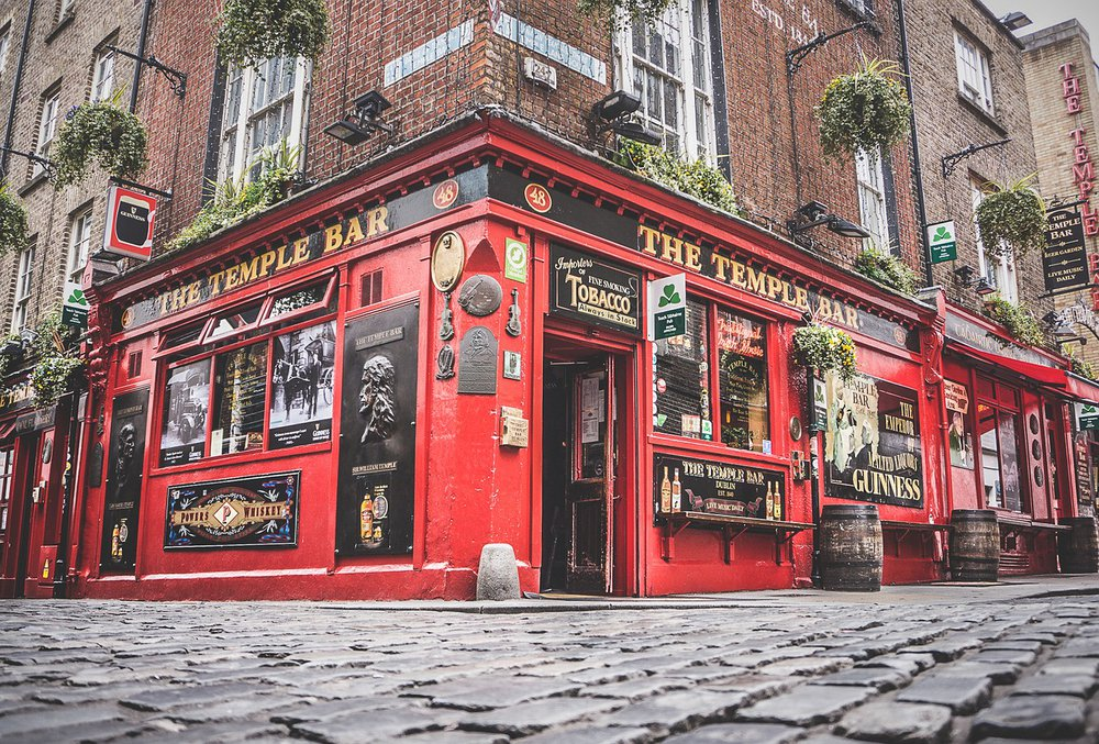 Temple Bar im Temple Bar Viertel in Dublin